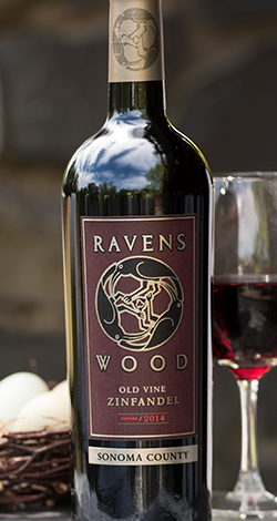 Bottle of Ravenswood Sonoma County Zinfandel
