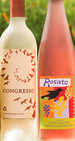 Bottles of Congresso and Rosato